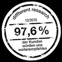 97,6 % unserer Kunden sind zufrieden!